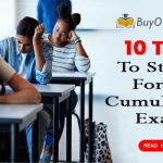 10 Tips to study for a cumulative exam